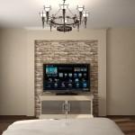 фото спальни дизайн телевизор