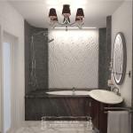 дизайн ванной комнаты мозаика