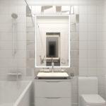 дизайн ванной белая