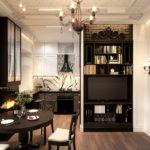 Кухня-гостиная лофт дизайн проект