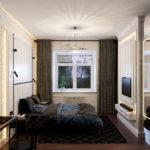 Дизайн проект спальни эклектика