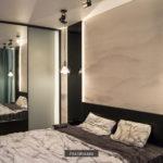 спальня чёрно-белая